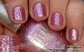 one of my favorite nail polish colors pink disco lights by milani
