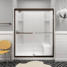 Sterling Frameless Shower Doors Sterling Finesse 59 5 8 In X 70 1 16 In Semi Frameless Sliding
