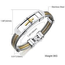 bracelet stainless steel images Miadeal men 39 s cross jesus bracelet stainless steel model mia02 jpg
