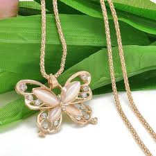 long butterfly necklace images Rose gold crystal long butterfly pendant necklace sale priced jpg