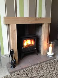 chunky solid oak fireplace oak beam fire surround mantle amazon