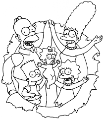 The Simpsons Black White Simpsons Family Color Ins Color Ins