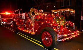 Fire Department Christmas Ornaments Canada by 7 Best Decked Out Fire Trucks Images On Pinterest Christmas