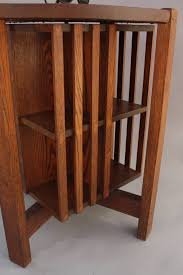 Oak Revolving Bookcase Round Arts And Crafts Table With Revolving Bookcase At 1stdibs