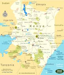 geographical map of kenya tourist map of kenya kenya tourism map