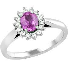 inel diamant inel cu safir roz si diamant dama aur alb 18kt cu un safir roz