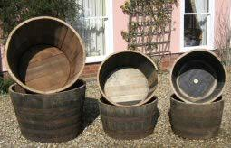 Half Barrel Planters by Buy Half Oak Barrels Tubs For The Garden Buy Whole Barrels