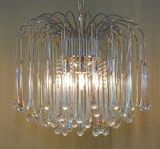 Vintage Glass Chandelier Italian Teardrop Chandelier At 1stdibs