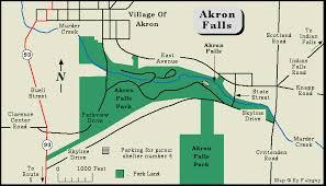 of akron map akron falls park erie county york