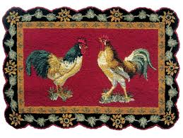 Rooster Area Rug August Grove Trace Rooster Wool Red Area Rug Wayfair