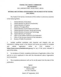 federal civil service commission recruitment 2016 portal for