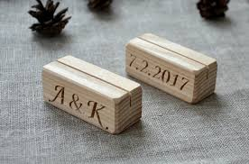Diy Table Number Holders 19 00 Usd 10 Personalized Wood Place Card Holders For Weddings