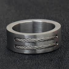 silver wire rings images Men 39 s punk rock ring fashion stainless steel party jewelry cool jpg