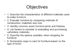 chapter 26 selecting furniture objectives 1 describe the