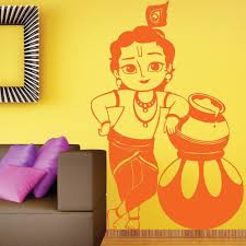 lord bal krishna spiritual hindu wall vinyl sticker easy peel lord bal krishna spiritual hindu wall vinyl sticker
