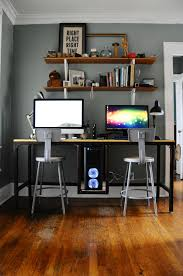 studio his and hers his and custom desk battlestation custom desk desks and