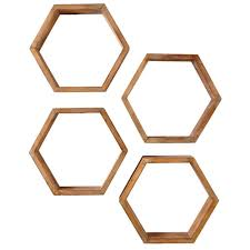 decorative shelves home depot home decorators collection 4 in x 18 25 in hexagonal brown wood
