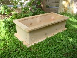 unfinished large cedar wood planter boxes for backyard or front