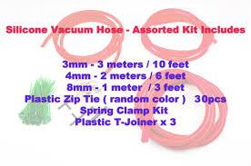 2 meter feet autobahn88 engine silicone air vacuum hose dress up kit clear blue