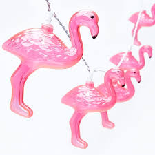 Battery Operated Lights For Pictures by 10 Flamingo Battery Operated Lights Warm White Party Lights