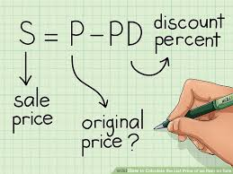 3 ways to calculate the list price of an item on sale wikihow
