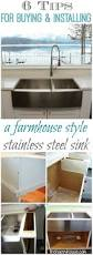 best 25 stainless steel sinks ideas on pinterest stainless 6 tips for buying and installing a farmhouse style stainless steel sink at thehappyhousie com