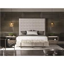 universal modern harlow king canopy bed with brushed brass frame