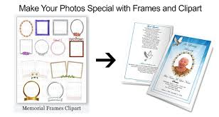 memorial program ideas funeral clipart frames
