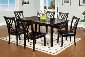 amazon com furniture of america 7 piece hearst rectangular amazon com furniture of america 7 piece hearst rectangular dining table and chair set espresso finish table chair sets