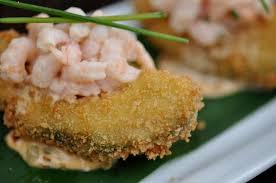 fried avocado with spicy shrimp salad recipe u2014paula deen this