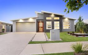 Kit Home Design South Nowra Timber Front Door With A Gravel And Stepping Stone Path Of The