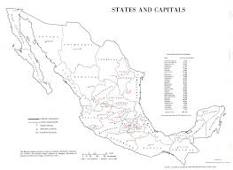 Mexico Map 1821 by Map Of Mexico States And Capitals 1975