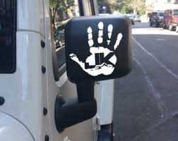 jeep wave sticker mirror wave dammit jeep wave decal
