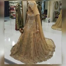 muslim wedding dress discount vestido de noiva gold lace muslim wedding dresses 2017