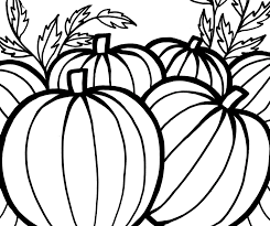 pumpkins coloring pages to celebrate thanksgiving fantasy