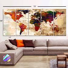 home interior framed xlarge 30 x 70 5 panels 30 x14 ea canvas print watercolor