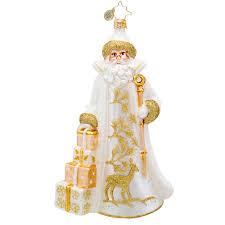 christopher radko ornaments 2015 radko santa ornament golden