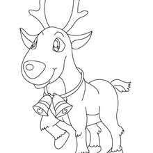 red nosed reindeer coloring pages hellokids