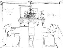 home design outstanding drawing dining room stock photo an