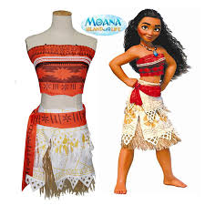 Birthday Halloween Costumes by Aliexpress Com Buy Real Anime Cosplay Princess Moana Costume