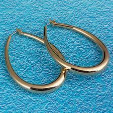 oval hoop earrings bonded 18k gold tubular hoop earrings