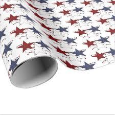 patriotic wrapping paper zazzle