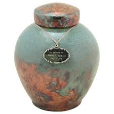 urns for cremation timeless turquoise raku ceramic cremation urn