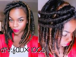 faux dreads with marley hair diy faux locs marley twist hair youtube