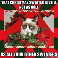 Christmas Sweater Meme - grumpy cat christmas meme 008 christmas sweater still as ugly