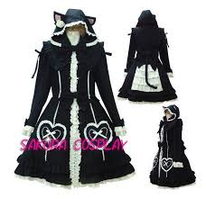 Halloween Costume Cat Ears 2013 Free Shipping Kawaii Cat Ear Tail Coat Halloween