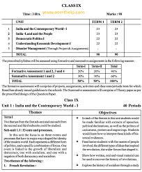 cbse syllabus for class 9 social science sa 1 and sa 2 ncert