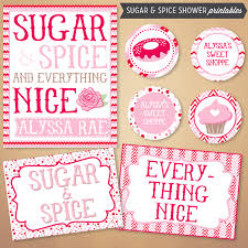 sugar and spice and everything baby shower the shopperie by lly designs sugar spice baby shower
