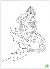coloring pages gorgeous mermaid coloring barbie pages