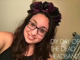 day of the dead headband diy day of the dead band flower band dia de los